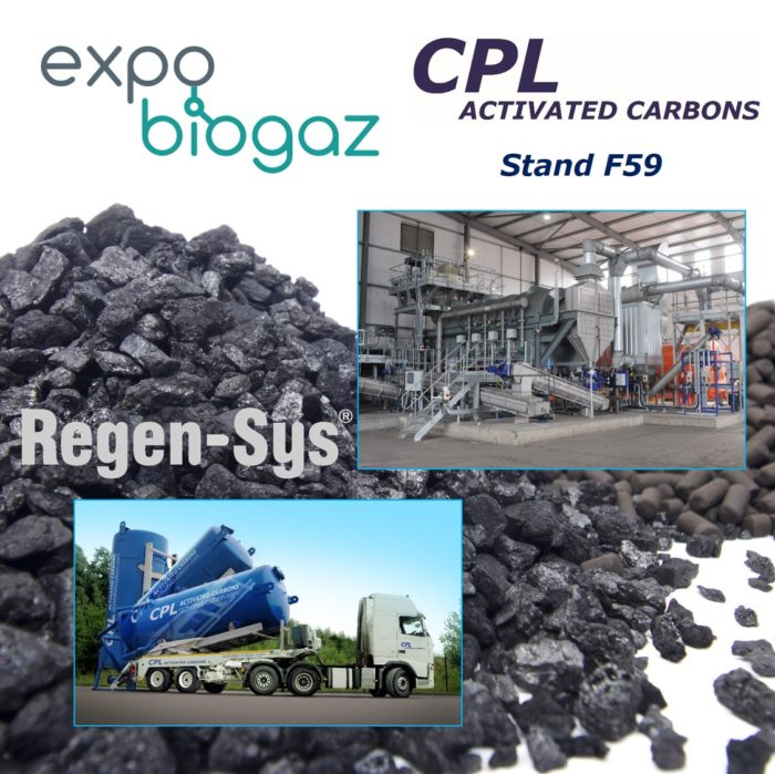Expo Biogaz Lille 2019 - CPL Activated Carbons, Stand F59